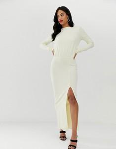 Sukienka Asos z odkrytymi ramionami z długim rękawem