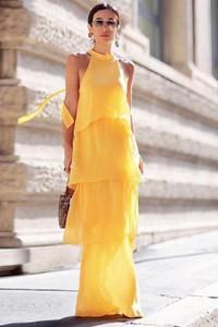Żółta sukienka Ivet.pl maxi