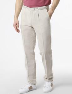 Spodnie Andrew James New York z lnu