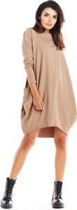 Sukienka Infinite You z długim rękawem oversize w stylu casual
