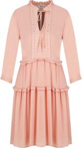 Różowa sukienka Liu-Jo rozkloszowana
