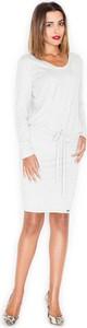 Sukienka Katrus midi z długim rękawem