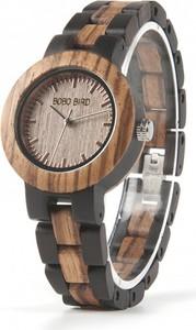Damski zegarek drewniany BOBO BIRD na dwukolorowej bransolecie
