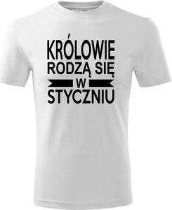 T-shirt TopKoszulki.pl z krótkim rękawem z bawełny w młodzieżowym stylu