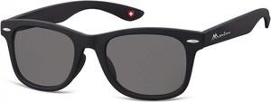 Stylion Okulary przeciwsłoneczne dziecięce nerdy wayfarer Montana 965 czarne matowe