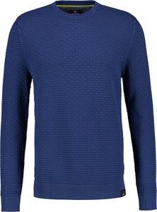 Niebieski sweter Lerros z bawełny