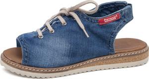 Niebieskie sandały ARTIKER RELAKS w stylu casual