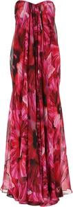 Czerwona sukienka Alexander McQueen z dekoltem w kształcie litery v bez rękawów