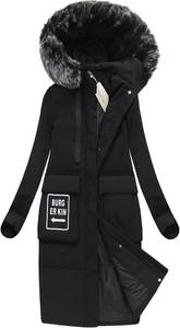 Czarny płaszcz ljr bez wzorów w street stylu