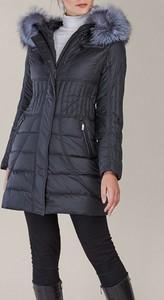 Granatowy płaszcz Kara w stylu casual