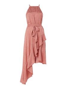 Różowa sukienka Forever Unique bez rękawów z dekoltem halter