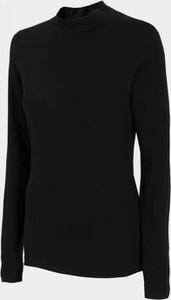 Czarna bluzka Odzież Sportowa Outhorn z golfem w sportowym stylu