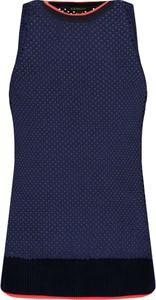 Niebieska bluzka Armani Jeans bez rękawów z okrągłym dekoltem