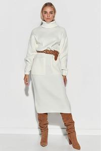Sukienka Makadamia w stylu casual z golfem z bawełny