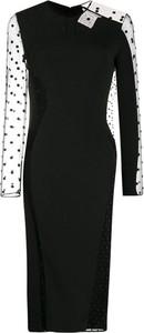 Czarna sukienka Stella McCartney z długim rękawem