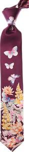 Fioletowy krawat Leonard z jedwabiu