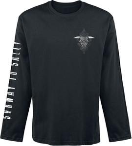 Czarna koszulka z długim rękawem Emp z bawełny w młodzieżowym stylu
