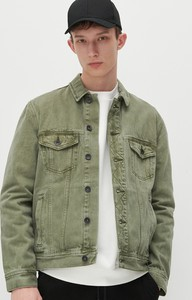 Zielona kurtka Reserved w stylu casual z jeansu krótka