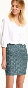 Bluzka Top Secret w stylu casual z dekoltem w kształcie litery v z długim rękawem