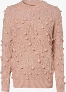 Różowy sweter Aygill`s z dzianiny