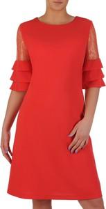 1343419e89 yoshe czerwona sukienka - stylowo i modnie z Allani