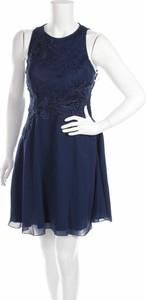 Niebieska sukienka SUDDENLY Princess mini rozkloszowana z okrągłym dekoltem