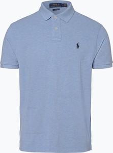 Niebieska koszulka polo POLO RALPH LAUREN z krótkim rękawem