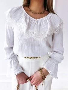 Bluzka Perfe z długim rękawem z okrągłym dekoltem