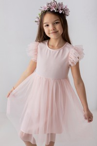 Różowa sukienka dziewczęca Myprincess / Lily Grey z bawełny