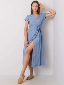 Sukienka Promese z krótkim rękawem z dekoltem w kształcie litery v