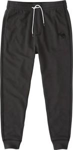 Czarne spodnie sportowe Abercrombie & Fitch z dresówki