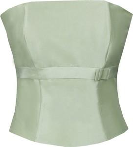 Zielona bluzka Fokus w stylu glamour bez rękawów