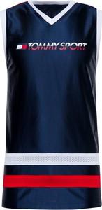 Niebieska koszulka Tommy Sport z nadrukiem