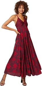 Sukienka Ipanima na ramiączkach z dekoltem w kształcie litery v z szyfonu