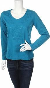 Niebieska bluzka Mode Aktuell w stylu casual z długim rękawem