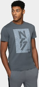 T-shirt 4F z krótkim rękawem z nadrukiem w młodzieżowym stylu