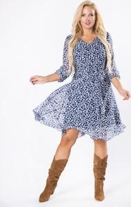 Sukienka Moda Dla Ciebie z długim rękawem z tiulu