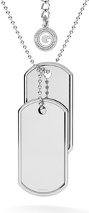 GIORRE KOMPLET NIEŚMIERTELNIK Z WŁASNYM GRAWEREM I ŁAŃCUSZKIEM : Długość (cm) - 60 + 5, Kolor pokrycia srebra - Pokrycie Jasnym Rodem