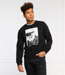 Czarna bluza Karl Lagerfeld z bawełny z nadrukiem w młodzieżowym stylu