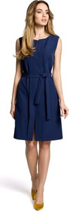 Niebieska sukienka MOE bez rękawów