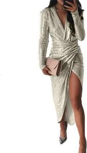 Sukienka Kendallme z długim rękawem maxi
