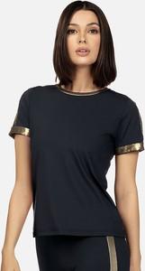 Czarna bluzka Feba z okrągłym dekoltem
