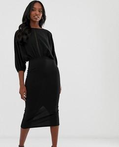 Czarna sukienka Asos midi