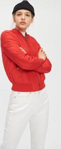 Czerwona kurtka Cropp krótka w stylu casual