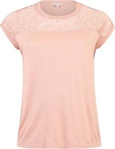 Różowa bluzka ONLY Carmakoma z okrągłym dekoltem
