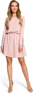 Różowa sukienka MOE z tkaniny