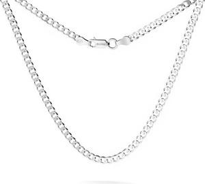 GIORRE MĘSKI ŁAŃCUSZEK PANCERKA CHOKER SREBRO 925 : Długość (cm) - 75 (PODWÓJNY CHOKER), Kolor pokrycia srebra - Pokrycie Jasnym Rodem