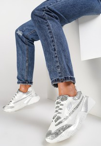 Sneakersy Renee sznurowane w młodzieżowym stylu na koturnie