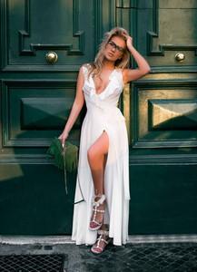 Sukienka Divinostyle kopertowa maxi bez rękawów