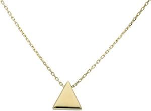 Irbis.style złoty naszyjnik trójkąt